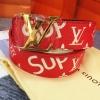 เข็มขัด Louis Vuitton ท็อปมิลเลอร์ 1:1 สายแดงกว้าง 1.5นิ้ว หัวทอง