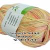 ไหมพรม Bamboo Cotton สีเหลือบ รหัสสี M19