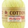 ไหมพรม Cotton 100% รหัสสี 01 Goose Yellow