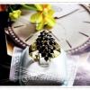 แหวนนิลทรงดอกกระทุ่ม gold plated 0.5microns