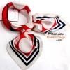 ผ้าพันคอ ผ้าคาดผมเนื้อไหมญี่ปุ่น : ลายวงกลมแดงขาว MJ0038