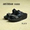 **พร้อมส่ง** FitFlop AMSTERDAM STUDDED : Black : Size US 6 / EU 37