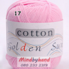 ไหมพรม Cotton 100% รหัสสี 17 Light Powder