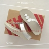 * NEW * FitFlop : HALO : Silver : Size US 7 / EU 38