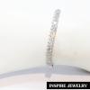 Inspire Jewelry , กำไลเพชรสวิสเหลี่ยมมาคี งานจิวเวลลี่ พร้อมถุงกำมะหยี่ ตัวเรือนหุ้มทองขาว