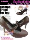 Shoes106 ChocoBrown Classic Shoes ใหม่! รองเท้าคัชชูส้นสูงลสีน้ำตาลช็อคearthtone คลาสสิก เหมือนสาวเกาหลี น่ารักมาก มีสายคาดถอดง่าย ไซส์ 36
