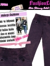 ไซส์40 เอาใจสาวอวบ #สกินนี่เอวสูงที่กำลังฮิต# PB966 HighwaistJeanSkinnyกางเกงสกินนี่เอวสูงเก็บหน้าท้องดีสวยผ้าสกินนี่ฟอกผ้ายืดญี่ปุ่น สีม่วงSnow