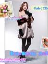 สไตล์สาวเกาหลีTB482 : Fur Blink Korean: ใหม่! เฟอร์คลุมไหล่เฟอร์สีน้ำตาลคลาสสิกแต่งง่ายเพิ่มความหรู ลุคสาวเกาหลี ผูกโบซาตินด้านในบุอย่างดีด้วยซาติน Br