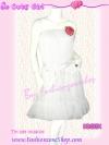 <ไปงานราตรีได้สวยสุดๆ แพทเทิร์นDresstoKill นาเดียใส่> DB213X ::Angel DresS ใหม่! แซคผ้าเนตชีฟอง เจ้าหญิงชายระบาย ผูกโบริบบินซาตินเด่น สีขาวเจ้าหญิง
