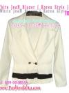 แบบสาวเกาหลี ฮิตตามให้ทันBlazerตัวโปรด TB557:Blazer Lover: ใหม่! เสื้อคลุมเบลเซอร์ได้ลุคเก๋สุดๆ ชายระบายสลับสี สาวเกาหลีสุดๆ ยีนส์ขาวระบายดำ