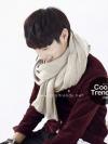 ผ้าพันคอผู้ชาย Man scarf ผ้า cashmere 180x30 cm - สี cream