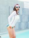 [ Pre ] เสื้อคลุมว่ายน้ำ นำเข้าจากเกาหลี aura-j