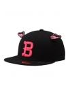 Pre Order / หมวกเกาหลี SUPER BOUND FITTED CAP 212 (BK) แบรนด์HATSONแท้