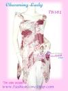 <สไตล์สาวเชอรี่ เขมอัปสร ห้ามพลาด>TB381: ::Angel Sweet ใหม่! เสื้อแขนระบายผ้าชีฟองอกน่ารักชายแหลม แบบสวย พื้นสีหวาน เฉดแดงเลือดหมู