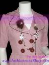 <สวยหรูๆแบบเทรนด์ดารา> ACC4003 ::Flower Bead Glam Necklace ::สร้อยคอลูกปัดหลากแบบหลากลาย ดีไซน์เปรี้ยวๆด้วยดอกไม้ขนกระต่ายเทียมเกสรมุก