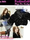 สไตล์สาวเกาหลี ลุคใสๆTB476 : Fur Cardigan Blink Korean: ใหม่! เสื้อคลุมตัวสั้นเฟอร์สีดำเก๋ลุคสาวเกาหลีน่าหยิก ผูกโบซาติน ด้านในบุอย่างดีด้วยซาติน