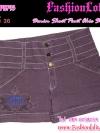 ไซส์36 เอาใจสาวอวบ #ขาสั้นยีนส์ที่กำลังฮิต# PB793 JeanShortPant กางเกงขาสั้นสวยยีนส์ แบบสวยเก๋ แต่งกระดุมเก๋ๆ สีม่วงฟอก