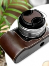 Pre Order / Case ใส่กล้อง NEX-C3 Leather Case + Lens Cap - Dark Brown