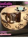 BELT4006 Chanel Signature Twotone Belt เข็มขัดชาแนล สายเข็มขัดสีขาวตัวอักษรสีน้ำตาลครีม หัวโลหะเงิน CC สลัก chanel