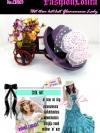 CH103 ใหม่! หมวกสานแต่งดอกไม้หรู ไอเท็มสาวหวานเก๋ไตล์วินเทจ และสไตล์สาวญี่ปุ่น/เกาหลี สีม่วง