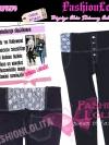 ไซส์34 เอาใจสาวอวบ #สกินนี่เอวสูงที่กำลังฮิต# LPB270-34 HighwaistJeanSkinny กางเกงสกินนี่เอวสูงเก็บหน้าท้องดีสวยผ้ายีนส์ฟอกยืดญี่ปุ่น สีดำ