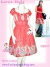 ดีเทลสวยหวานเชียร์!  DB618 Floral DreSS ใหม่! แซคผ้าชีฟองแต่งกระดุมที่อกแขนตุ๊กตา ลายดาราเกาหลัลายเชิงสวยเก๋ สาวสวยหวาน เฉดแต่งง่าย