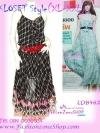 #หมด# สไตล์แบรนด์ KLOSET เชียร์สวยค่ะสาวอวบห้ามพลาด! LDB462:: KlosetStyle Dress แซคผ้าชีฟอง ดีไซน์หรูสุดๆเป็นชั้นๆ พริ้วสวยงามมาก ใส่ออกงานได้ Bl