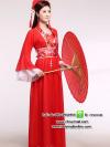 ชุดแฟนซีสาวจีนสีแดง ชุดคอสเพลย์ ชุดแฟนซีนานาชาติ ชุดแฟนซีประจำชาติ ชุดแฟนซีไซส์ใหญ่ ชุดแฟนซีคนอ้วน