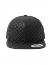 Pre Order / SNOB QUILTING LEATHER SNAPBACK_1259841592