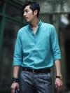 เชิ้ตแขนสี่ส่วนไซส์ใหญ่แฟชั่นเสื้อผ้าผู้ชายเกาหลีมี4สีสวย