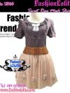 กระโปรงตาข่าย ฟูฟ่องสุคชิค SB160 Mesh Skirt Trendy: ใหม่! กระโปรงตาข่ายฟู่ๆ ติดกุหลาบ สุดเก๋ สีโอรส
