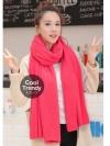 ผ้าพันคอไหมพรม ผ้า cashmere scarf size 180x30 cm - สี Rose pink
