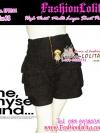 #สีดำ#ไซส์38 สาวอวบ #ขาสั้นเอวสูงที่กำลังฮิต# LPB244 HighwaistJeanShortPant กางเกงขาสั้นเอวสูงเก็บหน้าท้องดีสวย ขาเป็นชั้นๆเลเยอร์ ผ้ายีนส์ฟอกญี่ปุ่น