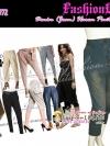 PB772 Harem DENIM (Jean) Pant กางเกงแฟชั่นผ้ายีนส์สีสวย 6ส่วน ทรงฮาเร็มยอดนิยมบนแคทวอล์ค ไซส์ L