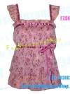 #หมด# FZS0408::สไตล์นางแบบ มาช่า ห้ามพลาด::Angel~Sweet ใหม่! แบบมาช่า เสื้อมีบ่าระบายผ้าชีฟองลายดอกหวาน อกย่น ระบายเป็นชั้นๆ สีชมพูเข้ม