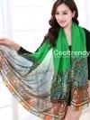 ผ้าพันคอลาย Morocco Style : สีเขียว - ผ้า viscose 180x90 cm