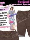 ไซส์38 เอาใจสาวอวบ #สกินนี่เอวสูงที่กำลังฮิต# PB896 Highwaist๋JeanSkinnyกางเกงสกินนี่ 5 ส่วนเอวสูงเก็บหน้าท้องดีสวยยีนส์ฟอกผ้ายืดญี่ปุ่น สีน้ำตาล
