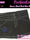 ไซส์36 เอาใจสาวอวบ #ขาสั้นยีนส์ที่กำลังฮิต# PB789 JeanShortPant กางเกงขาสั้นสวยยีนส์ แบบสวยเก๋ แต่งกระดุมเก๋ๆ สียีนส์ดำ