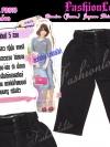 ไซส์40 เอาใจสาวอวบ #สกินนี่เอวสูงที่กำลังฮิต# PB893 Highwaist๋JeanSkinnyกางเกงสกินนี่ 5 ส่วนเอวสูงเก็บหน้าท้องดีสวยยีนส์ฟอกผ้ายืดญี่ปุ่น สีดำ