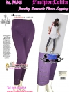 PA318Jewelry legging กางเกงเลคกิ้งรุ่นยาวติดจิวน่ารักมากปลายขาเป็นจิวเชียร์ค่ะสีม่วง