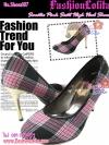 Shoes107 Sweeties Scott High heel Shoes ใหม่! รองเท้าคัชชูส้นสูงลายสก๊อตสีหวาน น่ารักมาก ส้นสีเงินหรูหรา ไซส์ 36