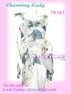 <สไตล์สาวเชอรี่ เขมอัปสร ห้ามพลาด>TB382: ::Angel Sweet ใหม่! เสื้อแขนระบายผ้าชีฟองอกน่ารักชายแหลม แบบสวย พื้นสีหวาน เฉดกรม