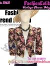 สไตล์Morgan TB625:Vintage Blazer:เสื้อคลุมวินเทจไหล่ตั้ง ลายดอกไม้ ผ้าเนื้อดีทำให้มีทรง ดีไซน์สวย