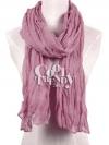 ผ้าพันคอแฟชั่น Cotton Candy : สี Powder Pink