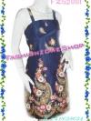 FZS2001 NavyBlue Silk-Liked Dress ใหม่! แซค เดรส เกาะอกสีกรมท่าพิมพ์ลายสวย ของexport ข้างหลังเป็นสม๊อก ใส่ไปงานก้อเก๋ ทำงานก้อได้ดูดี ใส่เที่ยวก้อเช้ง
