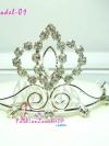 #หมด#สาวพอลล่าเจนนี่ประดับผม ACC3006Model1สวยเด่นชัด แต่ไม่ใหญ่เกิน ACC3006 ::Beauty Queen : หวีเสียบผมมงกุฎประดับ เพชรทรงดอกบัวบนฐานเพชร คลื่นม้วนตัว