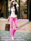 SKINNY ฮอตแฟชั่นเกาหลีเก๋สุดๆPB204 ClassicSkinny กางเกงสกินนี่ Skinny ผ้ายืดเนื้อหนา ผ้านิ่ม รุ่นนี้ทรงสวยใส่สบาย ไม่มีไม่ได้แล้ว สีชมพูอ่อน ไซส์ M