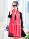 ผ้าพันคอ ผ้าคลุมพัชมีนา Pashmina scarf size 160 x 60 cm - สีชมพูพีช