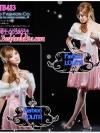 สไตล์สาวเกาหลีTB483 : Fur Blink Korean: ใหม่! เฟอร์คลุมไหล่เฟอร์สีขาวแต่งง่ายเพิ่มความหรู ลุคสาวเกาหลี ผูกโบซาตินด้านในบุอย่างดีด้วยซาติน