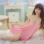 ♥พร้อมส่ง♥ ชุดนอนเซ็กซี่ไซส์ใหญ่ สีชมพู 3XL อก 43-49 นิ้ว